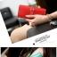 กระเป๋าสตางค์ใบยาว ประดับเข็มกลัดตัว H สี Pink หนัง PU นิ่ม thumbnail 6