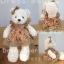 ตุ๊กตาหมีเสื้อกระโปรงลายการ์ตูนชายดอก teddybear cartoon brown dress ขนาด 35 cm thumbnail 1