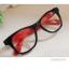 แว่นตาแฟชั่น เกาหลี EWK004 กรอบดำ ขาสีแดง thumbnail 1