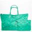 Coach 77316 Signature Nylon Large Packable Weekender Tote Bag / Silver :Aqua thumbnail 1