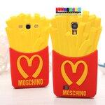 (152-641)เคสมือถือซัมซุงกาแล็คซี่เอส 4 Samsung Galaxy เคสนิ่ม Moschino McDonald french fries