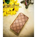 ZENUS : Italian Vintage Quilt Diary Case Cover For Galaxy Note 3, III, N9000, N9005