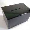 กล่องทิป สีดำ size XL 40cm (กล่องรับบริจาค กล่องแสดงความคิดเห็น) ***สั่งผลิต 7 วัน