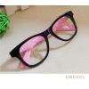 แว่นตาแฟชั่น เกาหลี EWK001 กรอบดำ ขาสีชมพู