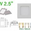 โคมไฟ LED Panel Downlight ดาวไลท์ 6W สี่เหลี่ยม