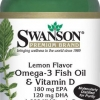 (S-5) Omega-3 Fish Oil & Vit D (60 oil cap./bottle) น้ำมันปลา และวิตามินดี (60เม็ด/ขวด)