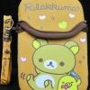กระเป๋าใส่มือถือ rilakkuma มีที่เก็บหูฟังด้านหลัง พร้อมสายคล้องคอ