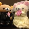ตุ๊กตา rilakkuma แต่งงาน ขนาด 30 cm