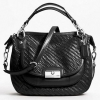 COACH 23048 KRISTIN WOVEN LEATHER ROUND SATCHEL