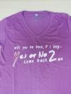 เสื้อยืด Yes Or No 2 ม่วง ไซส์ S