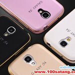 (021-006)เคสมือถือซัมซุงกาแล็คซี่เอส 4 Samsung Case เคสโลหะขอบทูโทนฝาหลังขอบโค้ง