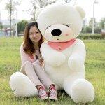 ตุ๊กตาหมีหลับ สีขาว ขนาด 2 m.