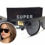 แว่นกันแดด SUPER Flat Top Black Gianni <ดำ>