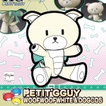Petitgguy Bow-wow White & Dog Costume (HGPG)