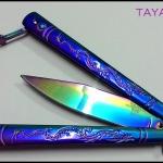 มีดควง บาลีซองเรนโบว์ดราก้อน Rainbow Dragon Balisong TKBS-DG7