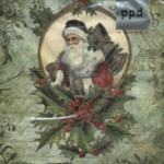 p-7527 แนพกิ้น33 christmas santa