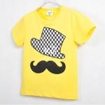 เสื้อเด็ก CISI แขนสั้น สีเหลือง ขนาด 90-130