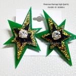 ต่างหู ตุ้มหู Shinning Star งาน Whatsoever อินเทรนด์มากค่ะคู่นี้ ดาราเซเลบใส่เพียบ ขนาด 3.5cm x 6.6cm