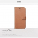 Zenus : Vintage Brown Diary Cover Case For Galaxy S7