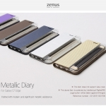 Zenus : Metallic Diary / Carrying Case For Galaxy S7 Edge