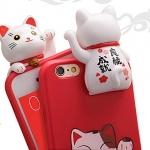 (462-014)เคสมือถือไอโฟน case iphone 6Plus/6S Plus เคสนิ่ม LuckyCat 3D