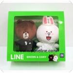 ตุ๊กตาไลน์ Line wedding คู่แต่งงาน พร้อมกล่อง สวยมากๆค่ะ