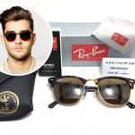 แว่นกันแดด RB 3016 Clubmaster 902/57 51-21 3N <ชา>