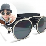 แว่นกันแดดแฟชั่น Silver Frame Black Sheet OF 8332 65-16 125 <เงิน>