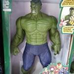 Superhero - Hulk ยักษ์เขียว แขนขา ขยับได้ กดที่อกมีไฟกับเสียง สูงประมาณ 12 นิ้ว งานสวยนะคะ