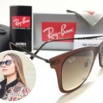 แว่นกันแดด RB 4210 Wayfarer Light Ray 6122/13 50-20 3N <น้ำตาล>