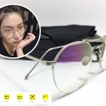 แว่นกันแดดแฟชั่น Silver Box Flat Light Microscopy 3326 52-23 150 <เงิน>