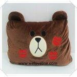 หมอนผ้าห่ม ขนาด 3 ฟุต ลาย หมี Brown รอยจูบ เนื้อผ้าขนหนูนุ่มมากๆ ค่ะ (ซื้อ 3 ชิ้น ราคาส่ง 400 บาท/ชิ้น)