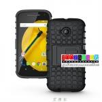 (002-033)เคสมือถือ Motorola Moto E2 เคสกันกระแทกสุดฮิตแบบเหน็บเอวขอบสี