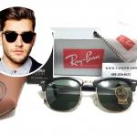 แว่นกันแดด RB 3016 Clubmaster W0365 51-21 3N <ดำ>