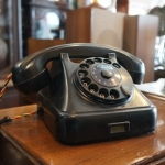 โทรศัพท์ โบราณyukoslavia  Vintage ISKRA Telephone ATA11 year 1956 made in yugoslavia