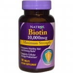 Natrol, Biotin, Maximum Strength, 10,000 mcg, 100 เม็ด