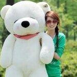 ตุ๊กตาหมีหลับ สีขาว ขนาด 1.8 m.