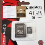เมมโมรี่ MicroSD card Kingston 4GB ของแท้ ประกัน Life time