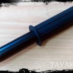 ดิ้วสปริงดำ 3 ท่อน ( Black Spring Fight Baton) ขนาดยาว 18.50 นิ้ว