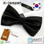 K-Jasper - หูกระต่าย สีดำ ผ้าเนื้อลาย สไตล์เกาหลี (BT020) by WhiteMKT