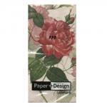 กระดาษแนปกิ้น กระดาษเดคูพาจ 20x20 Red Rose 01321