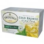 Twinings, Cold Brewed Iced Tea, Green Tea with Mint, 20 Tea Bags