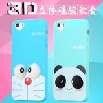 (462-025)เคสมือถือไอโฟน case iphone 6Plus/6S Plus เคสนิ่มลายการ์ตูน โดเรมอน มินเนี่ยน 3D น่ารักๆ