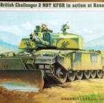 1/35 British Challenger 2 MBT KFOR in action at Kosovo