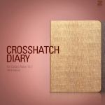 Zenus : Crosshatch Diary Case Cover for Samsung Galaxy Note 10.1 (2014 Edition)