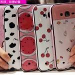 (440-040)เคสมือถือซัมซุง Case Samsung Galaxy J7 เคสนิ่มขอบสีพื้นหลังลายสวยๆน่ารักๆ