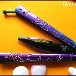 มีดซ้อมควง เรนโบว์ซากุระบาลิซอง Rainbow Sakura Balisong Trainer Knife TKBS-SK55TR