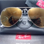 RB 3025 AVIATOR LARGE METAL W3276 58-14 3N ปรอททอง