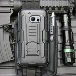 (002-136)เคสมือถือ HTC 10 เคสนิ่ม+พื้นหลังประกบแบบพลาสติก+มีขาตั้ง+ที่เหน็บเอวสไตล์กันกระแทก