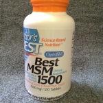 Doctor's Best, Best MSM 1500 mg . 120 เม็ด